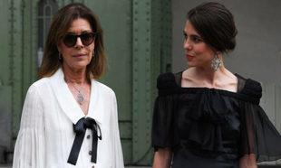 Carolina de Mónaco y Carlota Casiraghi en el tributo ofrecido en el...