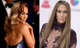 Jennifer Lopez, con y sin extensiones.