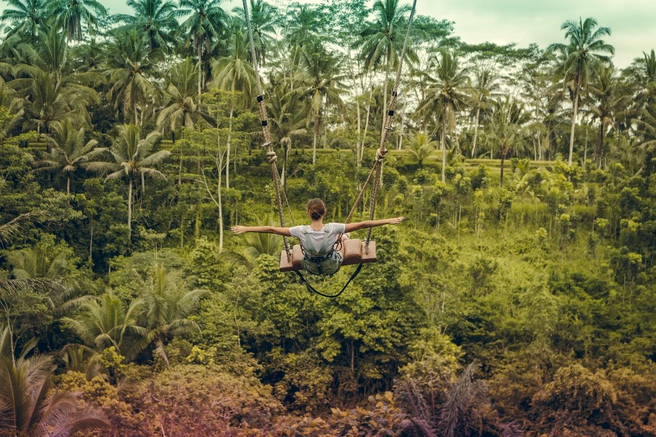 Columpio en Zen Hideaway en Bali