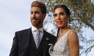 Sergio Ramos y Pilar Rubio el día de su boda.