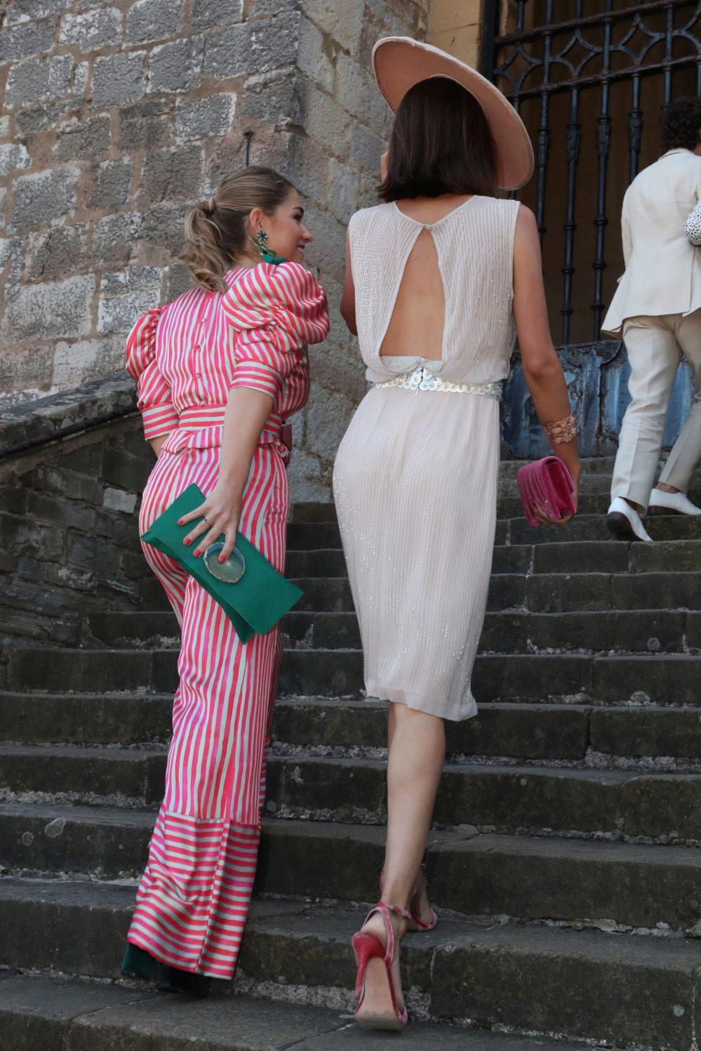 Detalle de la espalda del vestido de Sofía Palazuelo.