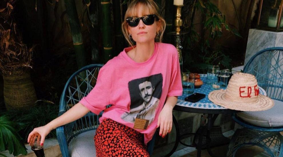 Jeanette Madsen de turista en Marrakech