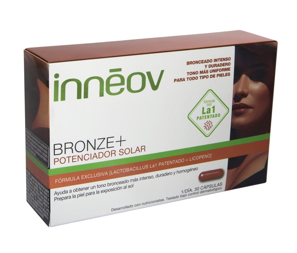Suplemento Bronze +  Potenciador solar de Innéov.