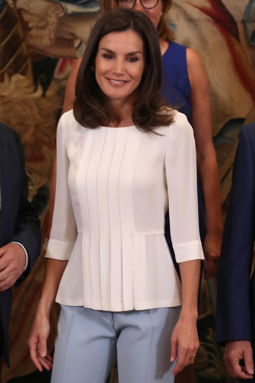 La reina Letizia este jueves en una audiencia.