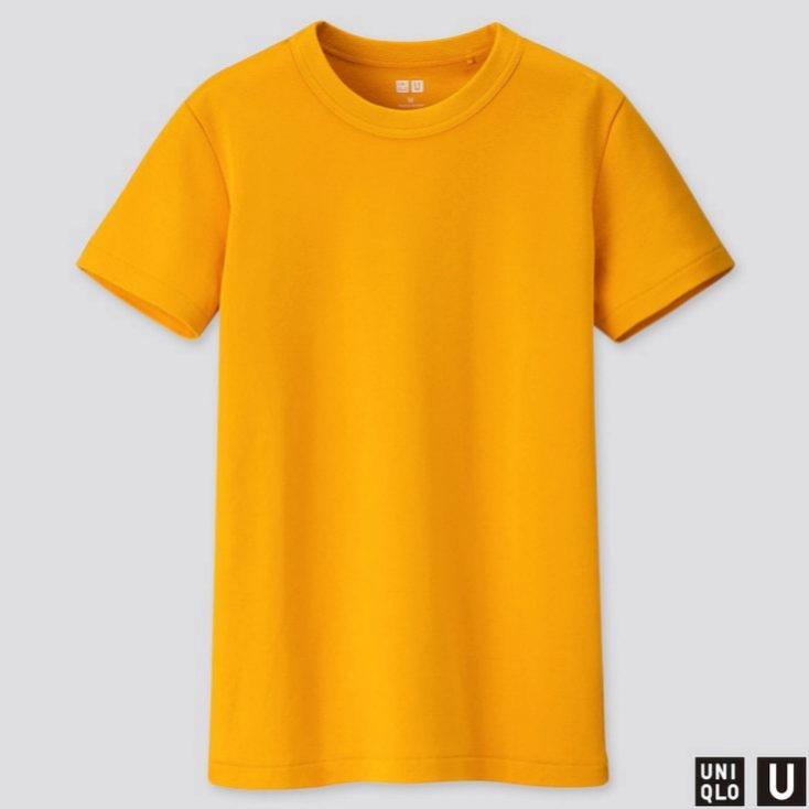 Camiseta de algodón en color amarillo de Uniqlo