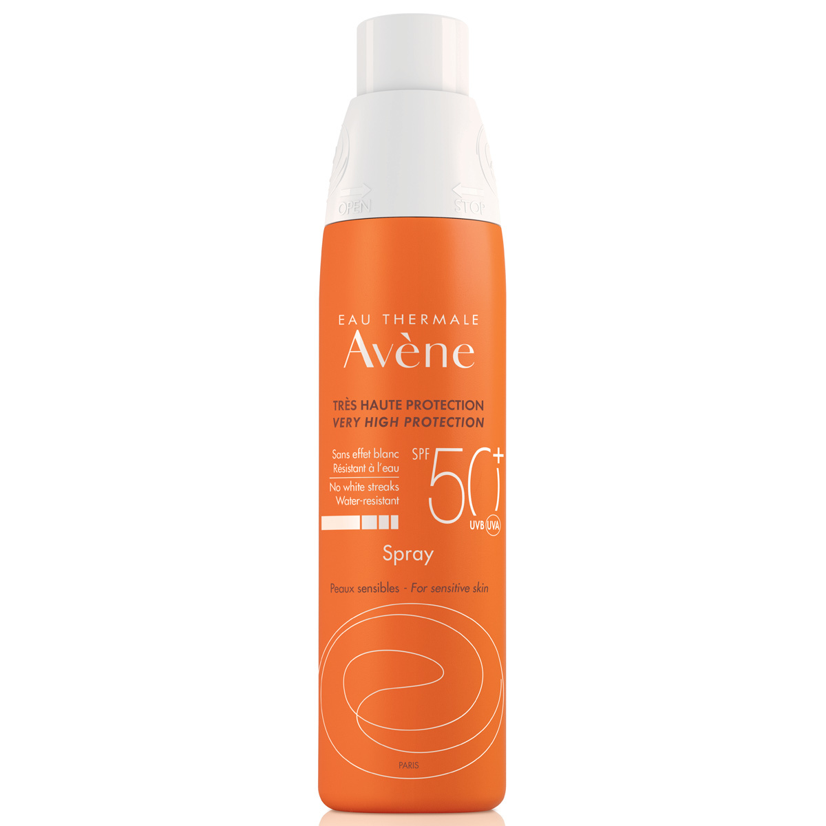 Spray para pieles sensibles SPF 50 alta protección de Avène (24,80...
