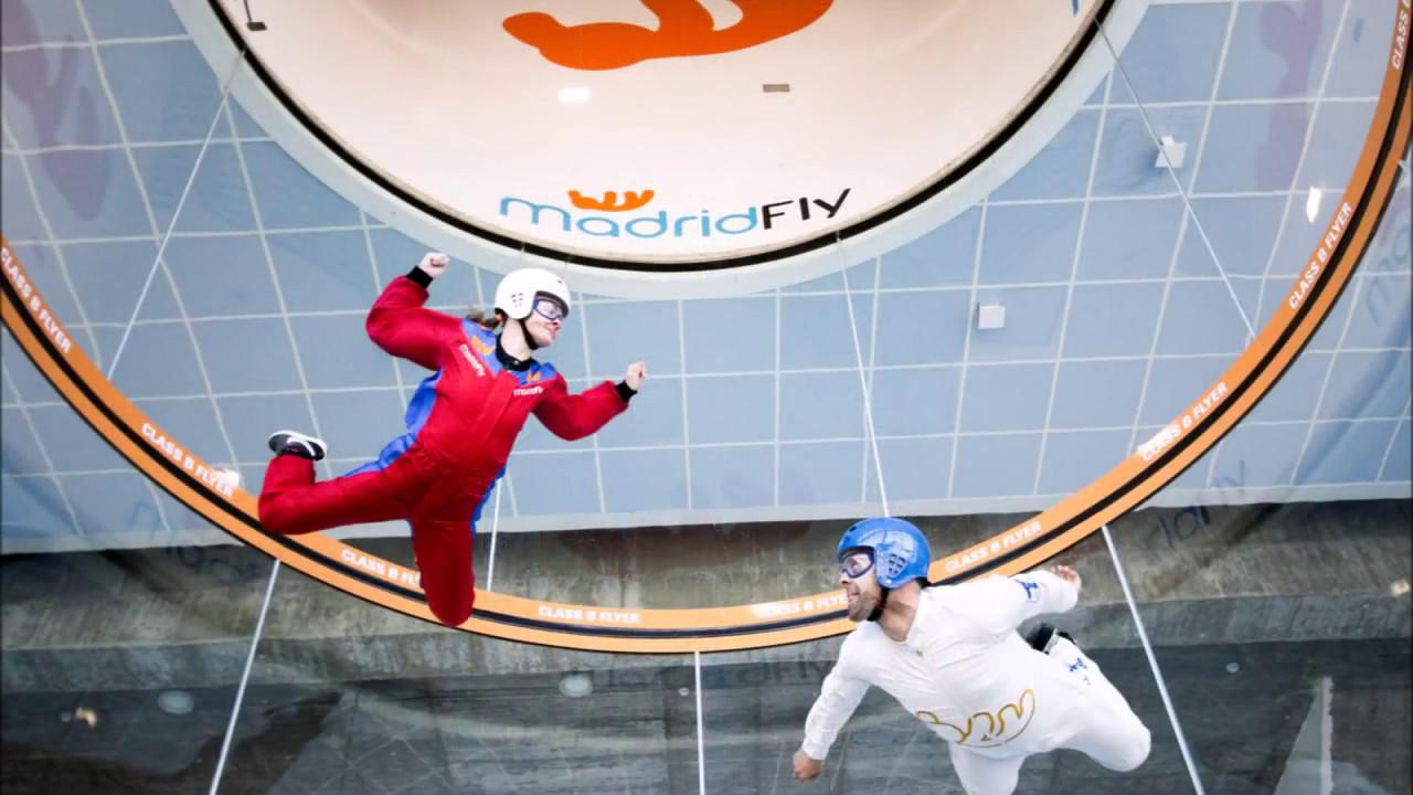 El túnel de viento de Madrid Fly está ubicado en Las Rozas, en...