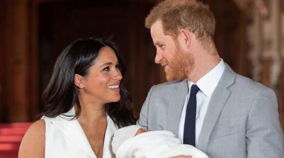 Los Duques de Sussex con su hijo Archie.