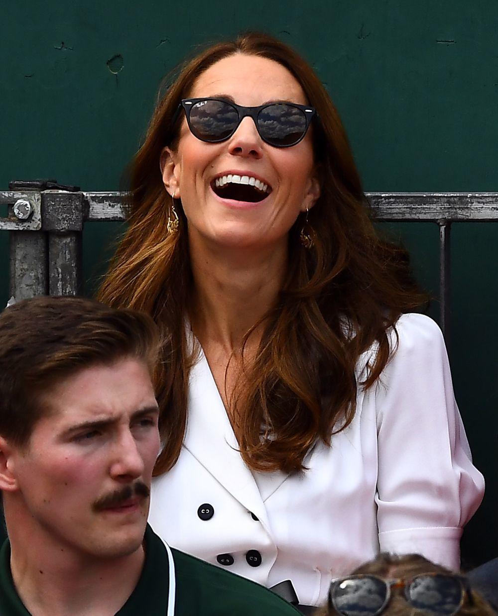 La Duquesa de Cambridge con gafas de sol en Wimbledon.