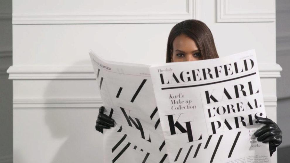 La modelo Liya Kebede en una de las imágenes de la nueva colección...