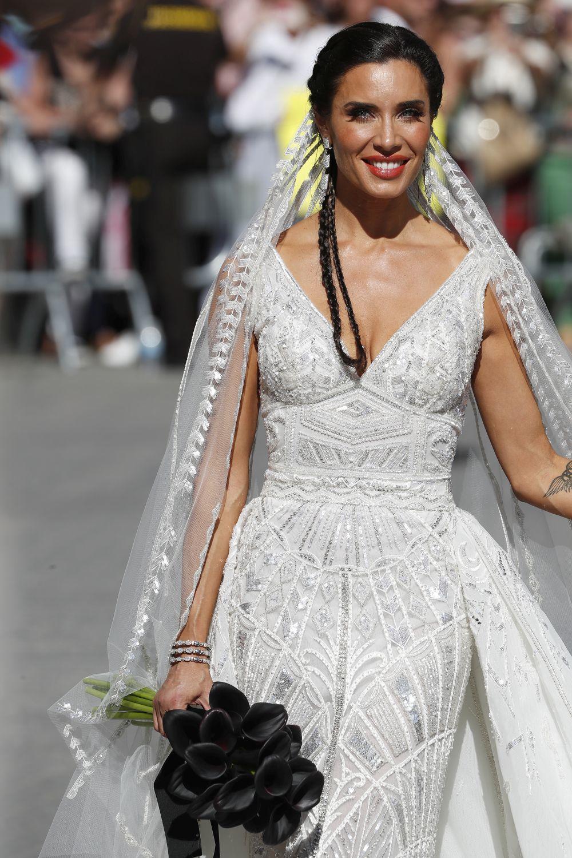 El primer vestido de novia de Pilar Rubio.