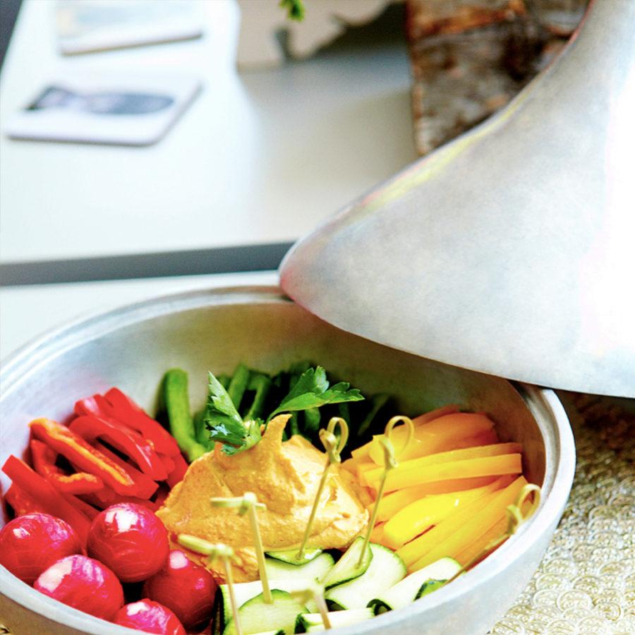El hummus es un perfecto aperitivo saludable.