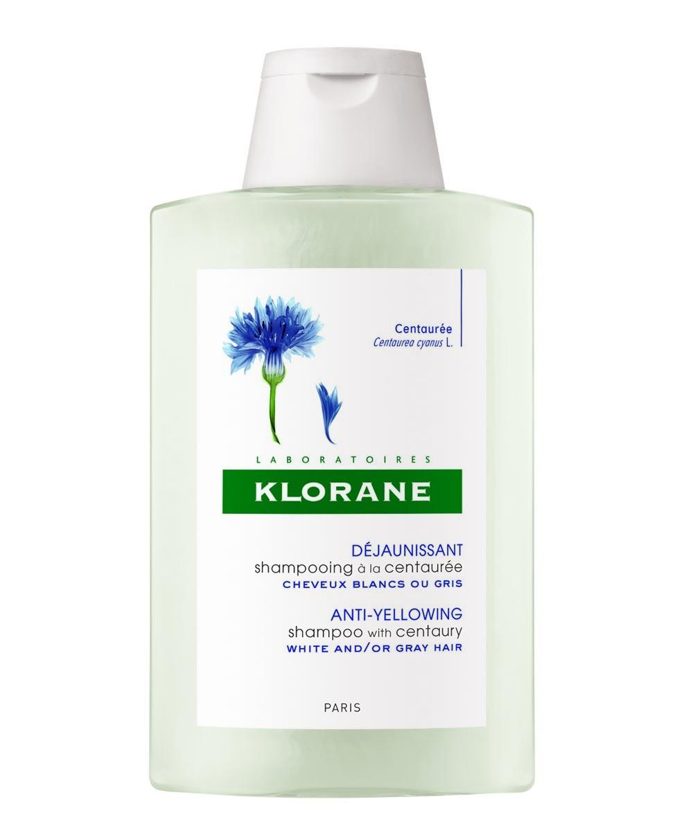 Champú a la centaurea para el pelo blanco de Klorane.