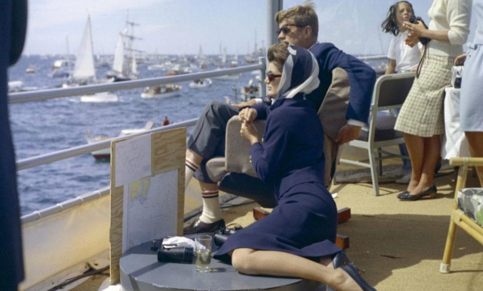 El 15 de septiembre de 1962, John y Jackie Kennedy contemplaron la...