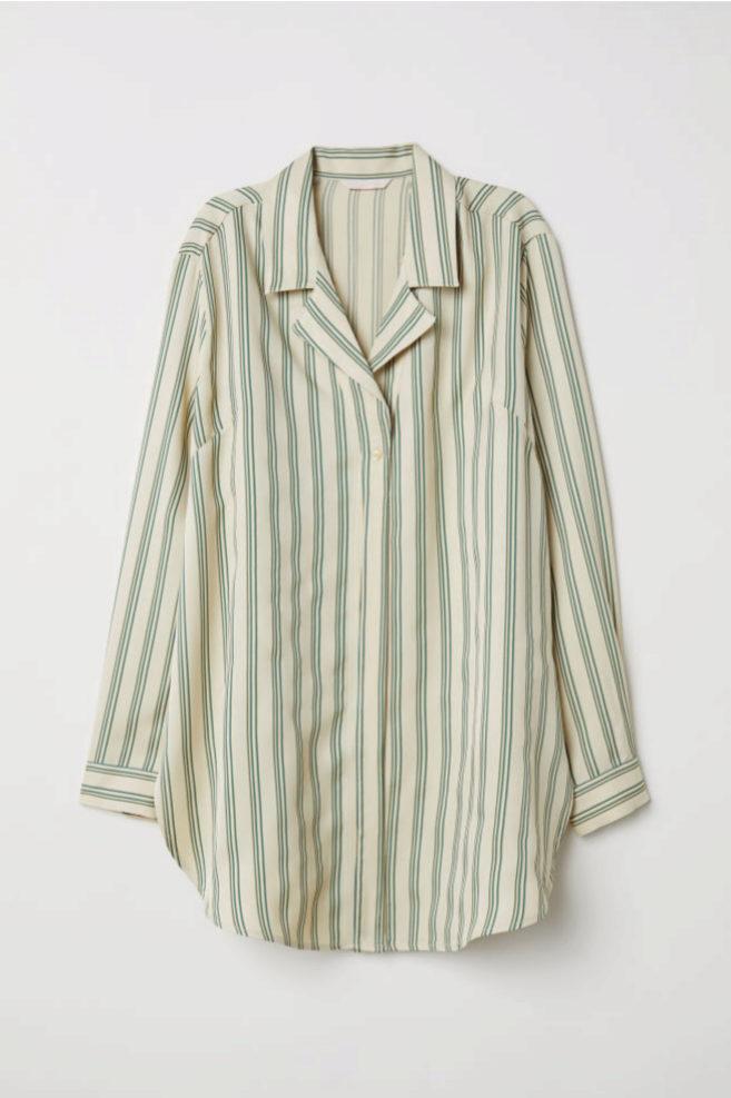 Camisa oversize de rayas de H&M