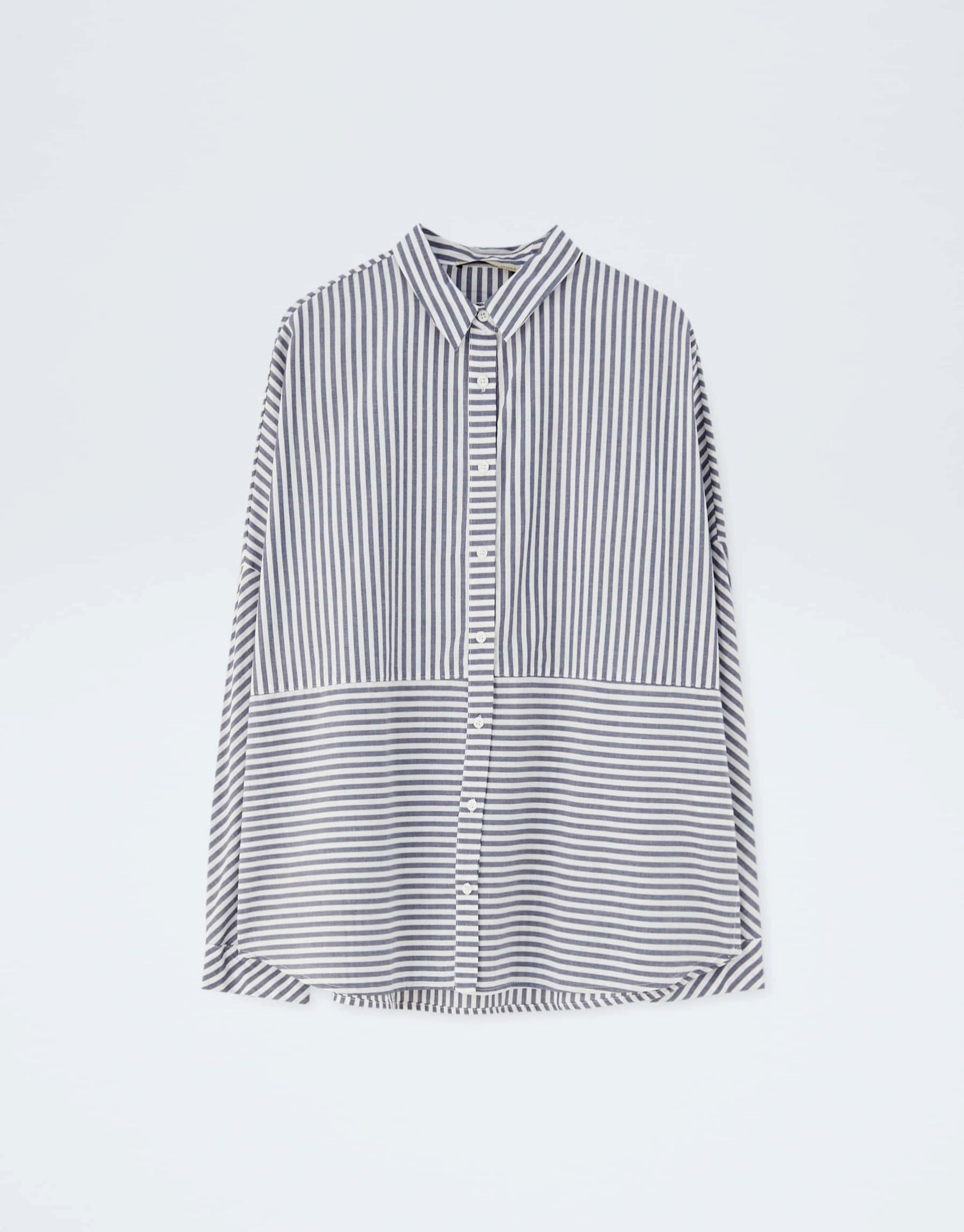 Camisa de rayas de estilo masculino de Pull & Bear