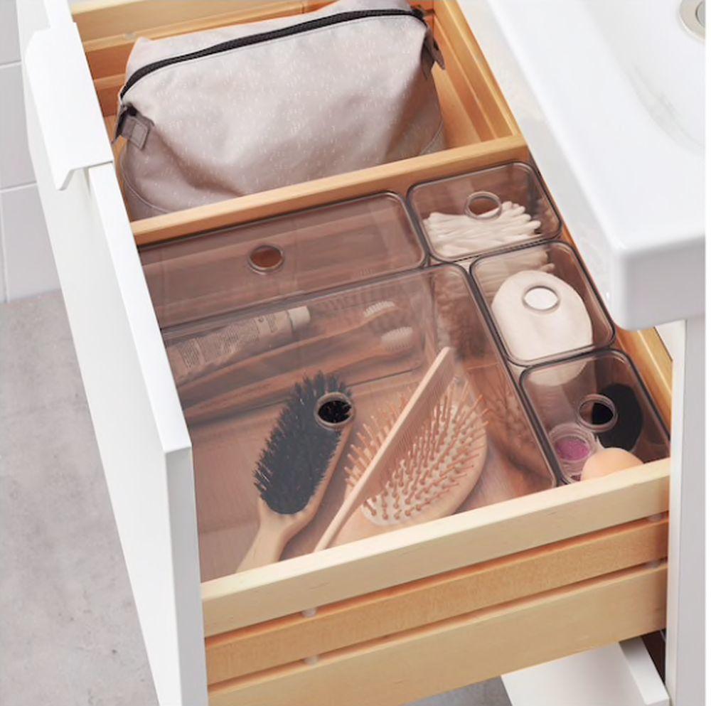 Organizador para los cajones del baño, de Ikea