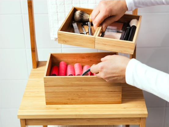 Caja de bambú, de Ikea