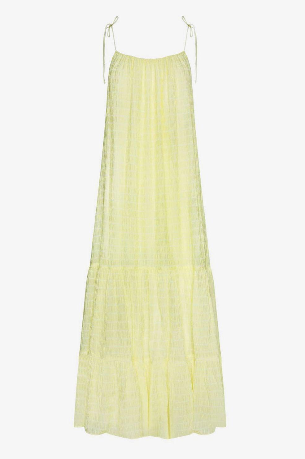 Vestido tipo hippy en amarillo de Anine Bing