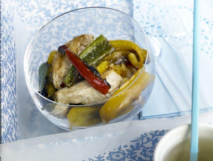 Salteado de pollo y pimientos