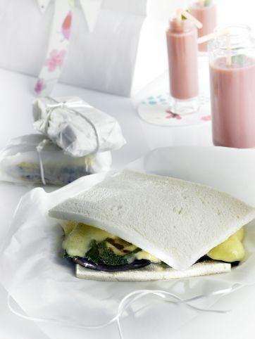 Sándwich de calabacín y berenjenas
