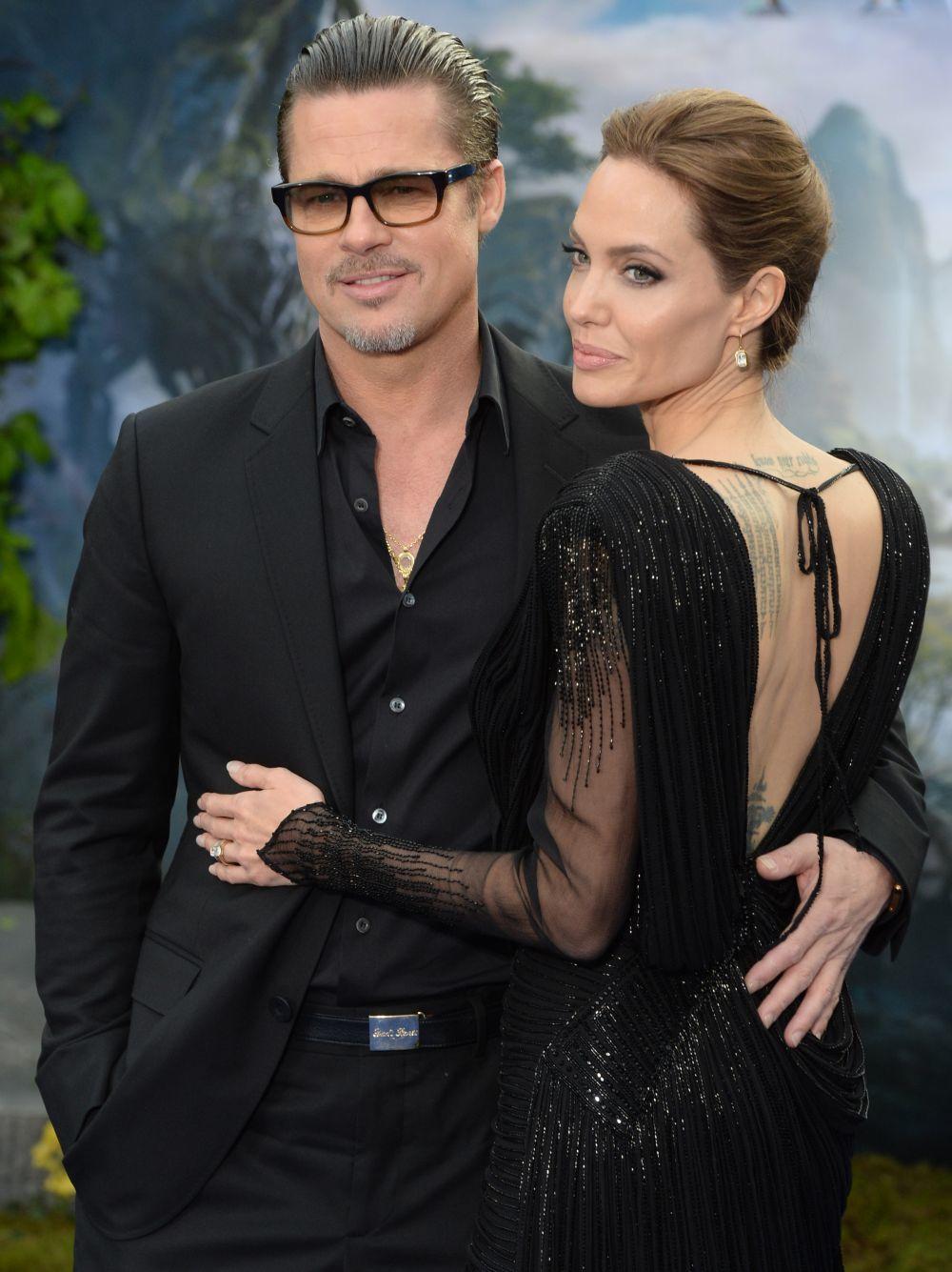 Brad Pitt con su exmujer, Angelina Jolie.