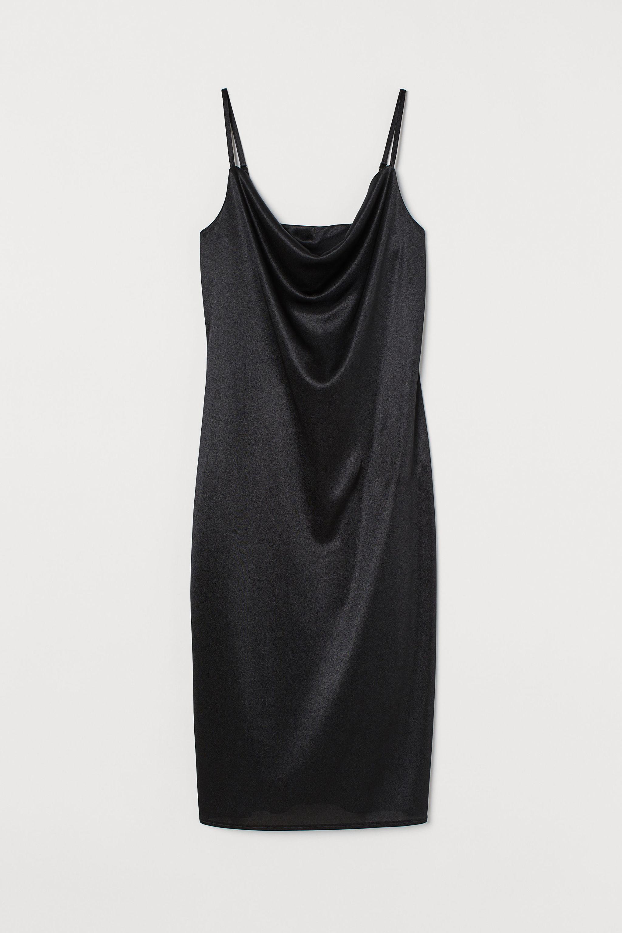 Vestido lencero satinado de H&M