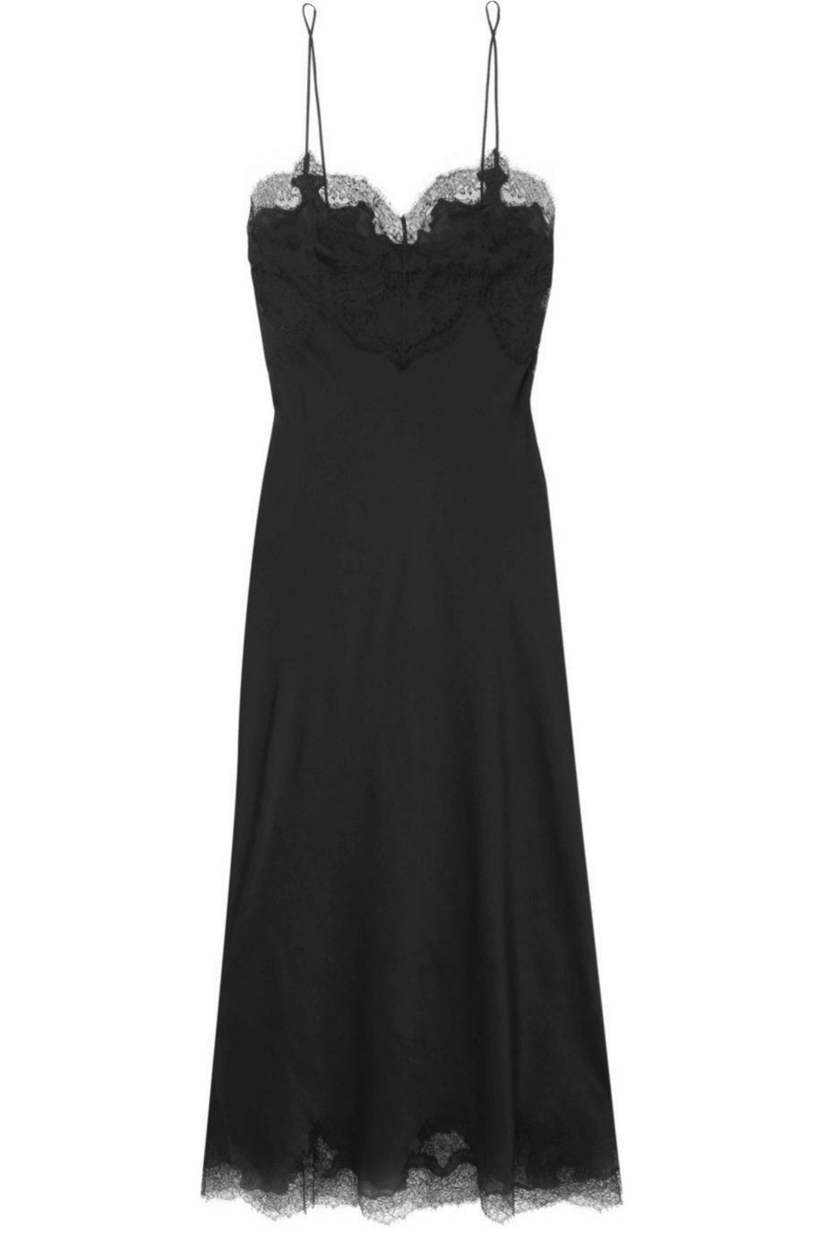 Vestido lencero de Carine Gilson para Net a porter