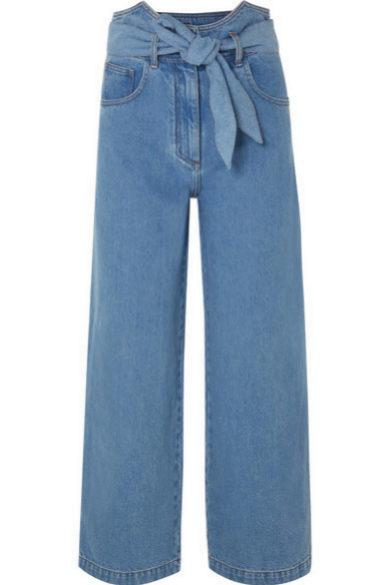 Jeans de tiro alto y corte recto de Nanushka