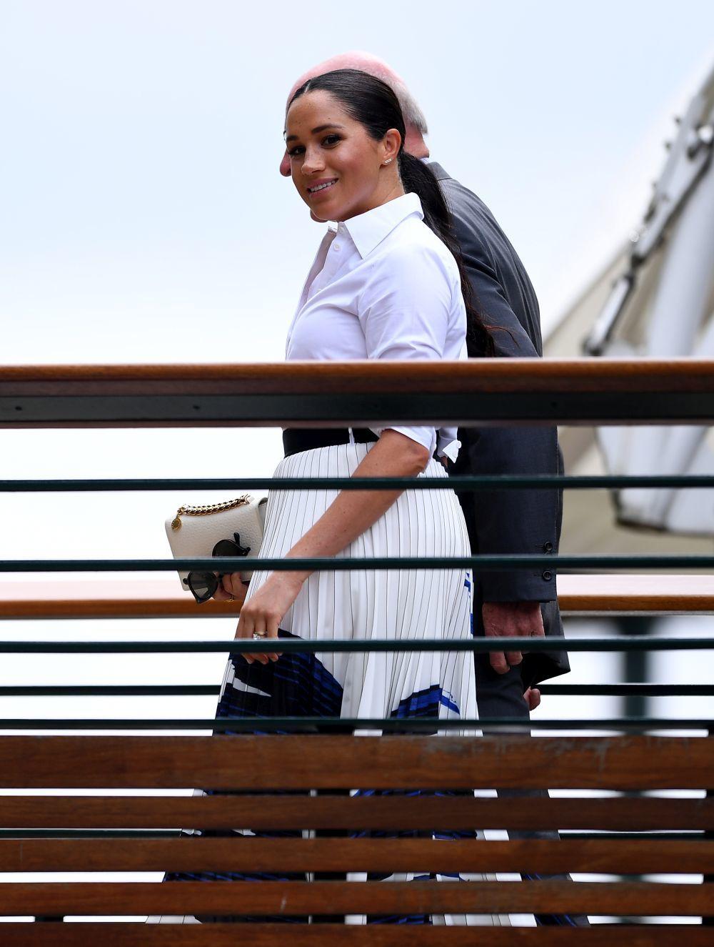 Meghan Markle llegando a Wimbledon.