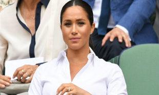 Meghan Markle en la final femenina de Wimbledon.