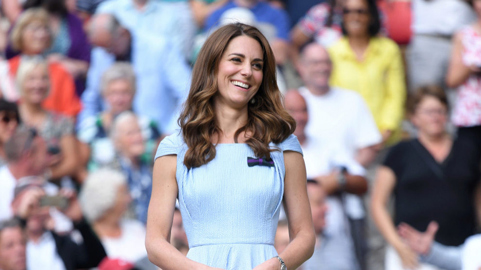 Kate Middleton en la final de  Wimbledon