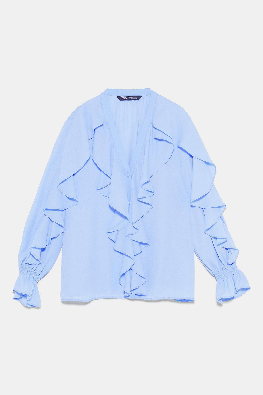 Blusa con volantes de Zara