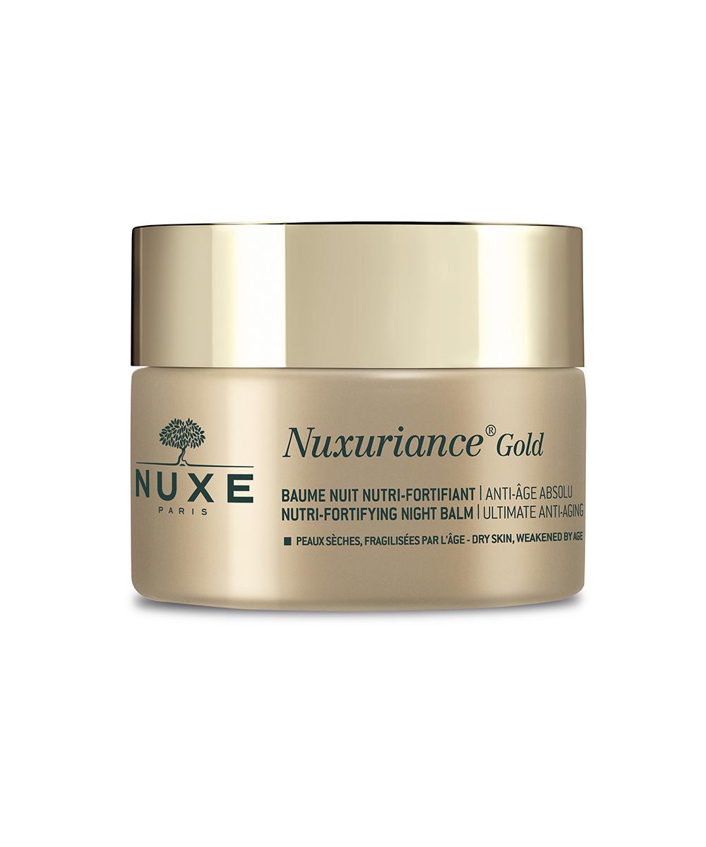 Bálsamo de noche Nutri-Fortificante Antiedad Nuxuriance Gold de Nuxe