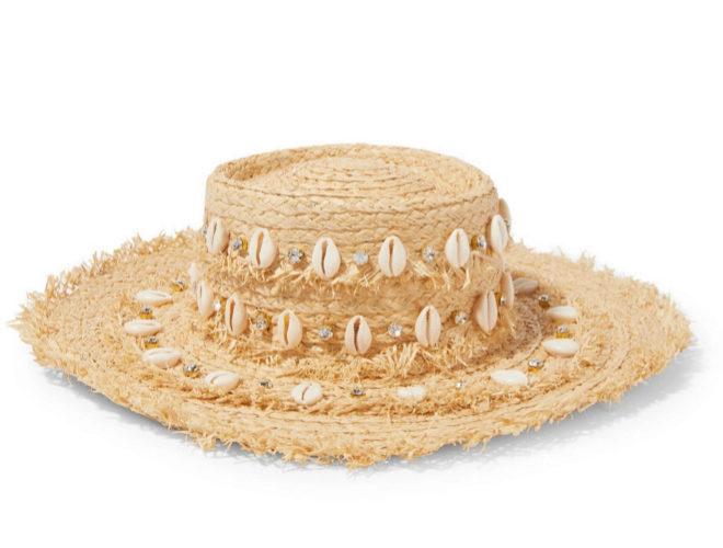 Sombrero de conchas de Aquazzura