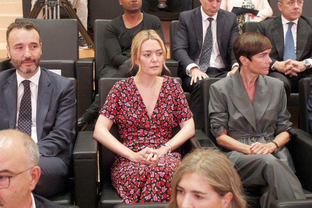 Marta Ortega en la junta de accionistas de Inditex