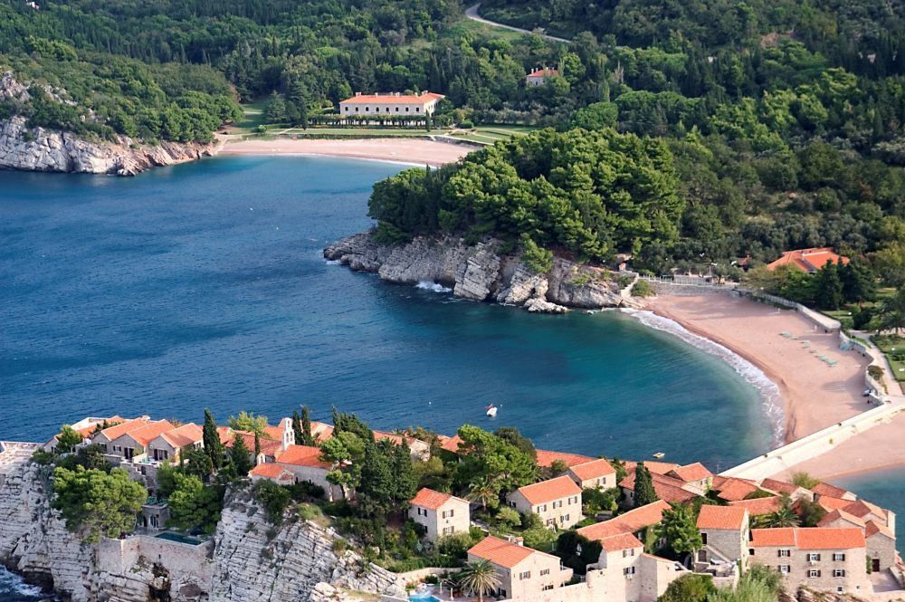 Isla de Sveti Stefa, un hotel privado