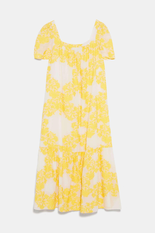 Vestido de lino estampado de Zara (39,95¤)