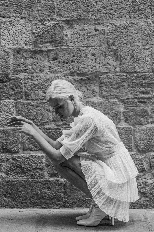 Vestido corto de novia, de Marta Martí.