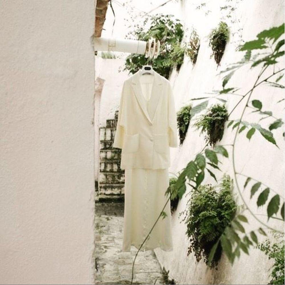 Chaqueta blanca de Inés Martín Alcalde.