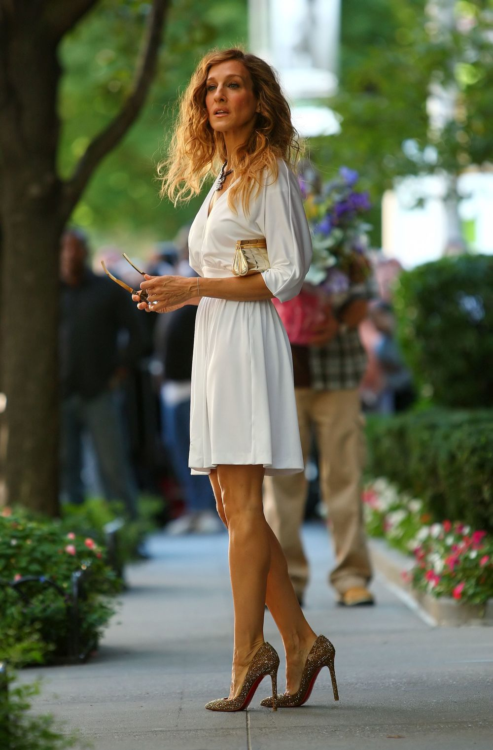 "Carrie Bradshaw en una escena de ""Sex in the City""."
