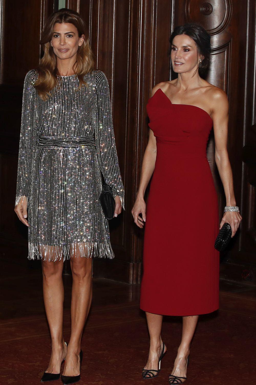 Juliana Awada junto a la reina Letizia.