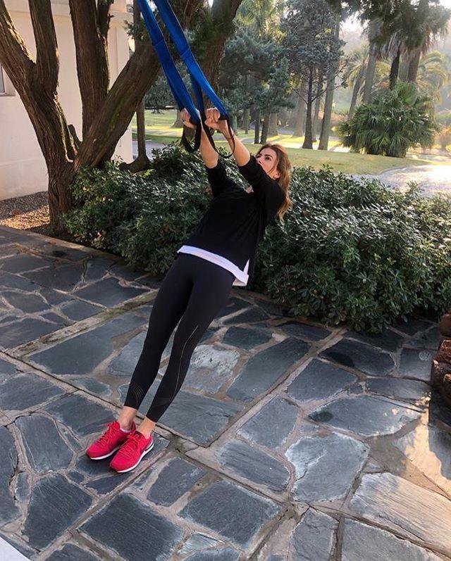 Juliana Awada comparte su rutina de deporte en Instagram.