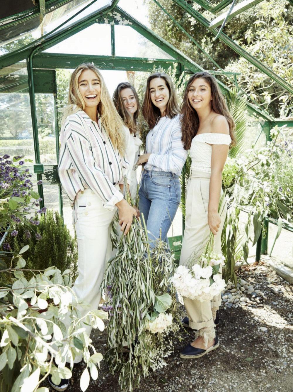 Pía, Sofía, Lucía y Alejandra, de la tercera generación de la saga...