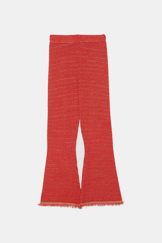 Pantalón de hilo metalizado de Zara (25,95¤)