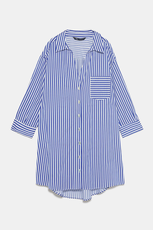 Camisa oversized de rayas de Zara (25,95¤)