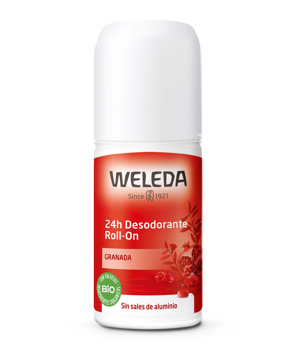 Desodorante natural de Roll-On Granada de Weleda.