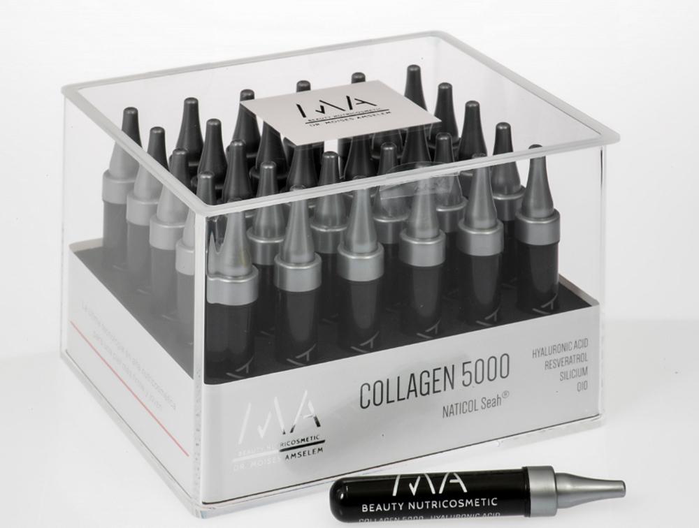 Suplemento de colágeno Collagen 5000 del Doctor Moisés Amselem.