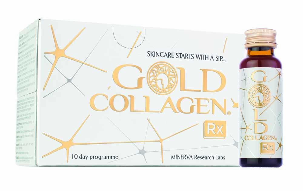 Suplemento de colágeno líquido Gold Collagen Rx.
