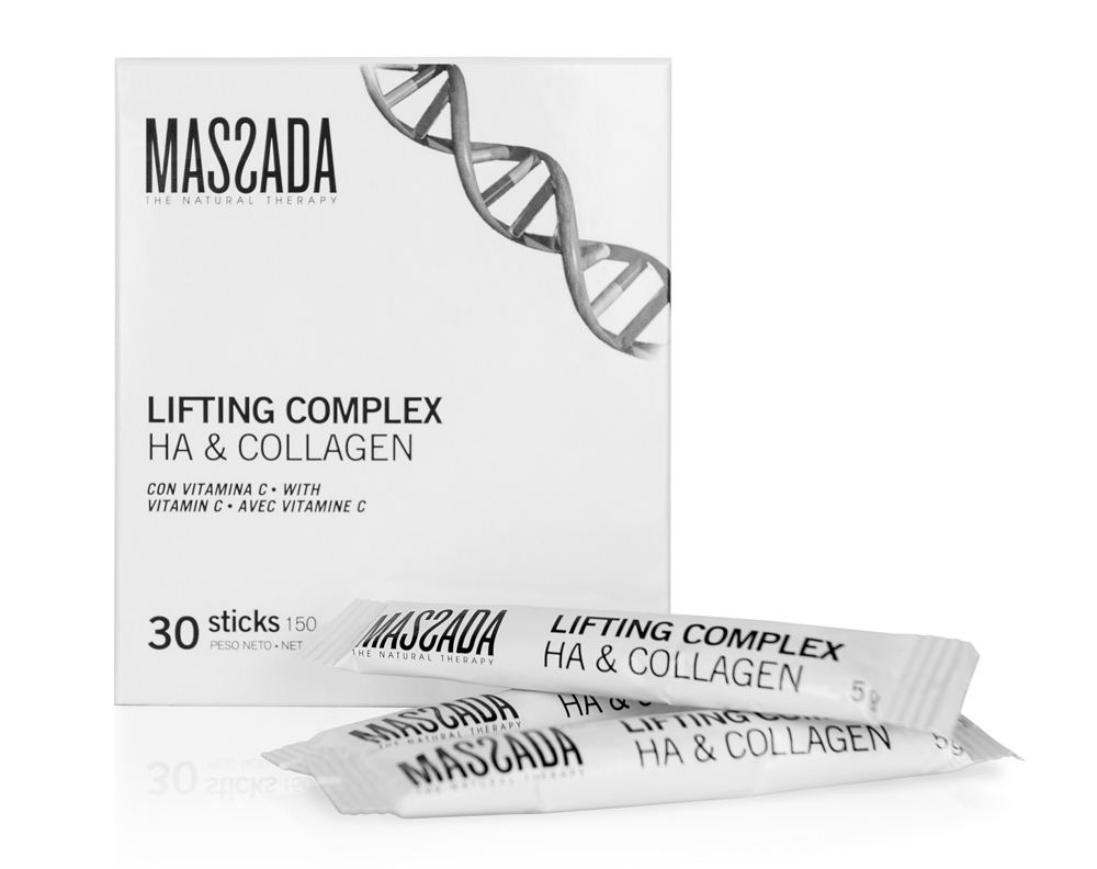 Suplemento nutricional Massada Lifting Complex HA & Collagen.